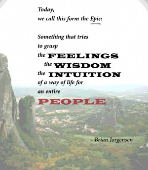Lecture Quotes: Jorgensen on 'epic'