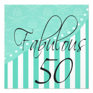 Fabulous 50 Personalized Turquoise Birthday Party picture