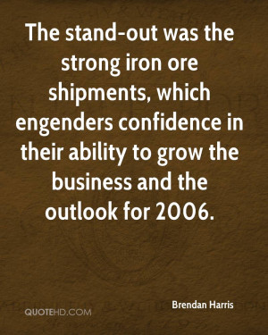 The stand-out was the strong iron ore shipments, which engenders ...