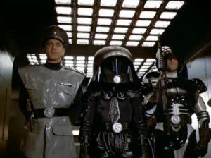 Rick Moranis (Dark Helmet) and George Wyner (Colonel Sandurz) in ...