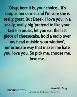Choose Her Over Me Quotes