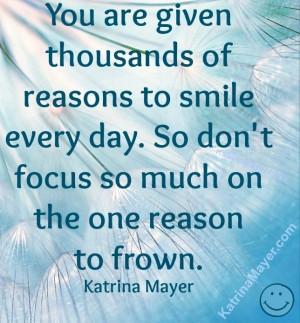 Smile quote via www.KatrinaMayer.com
