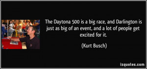 The Daytona 500 is a big race, and Darlington is just as big of an ...