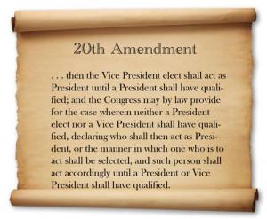 20th Amendment to the U.S. Constitution