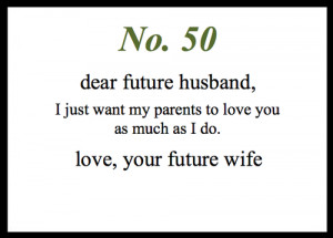 dear future husband letters