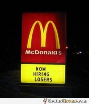 Funny Mcdonalds Quotes Sign...