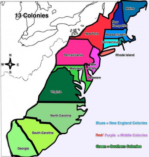 ... , Colonies Maps, English Colonial, 13 Colonies, Independence Graphics