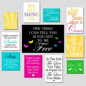... Listing for Heather Custom Beatles Quote by TessylaPrints, $251.00