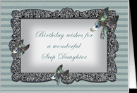Butterfly Mirror Step Daughter Birthday card - Product #428243