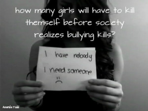 Bullying isn't a joke. There are people who don't take it ...