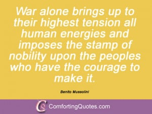 Quotations By Benito Mussolini