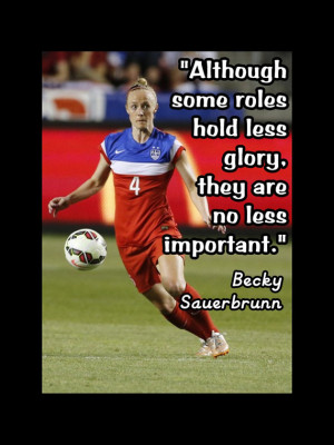 Soccer Posters With Quotes Soccer Poster Becky Sauerbrunn