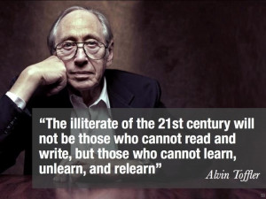 Alvin Toffler on the new illiterate