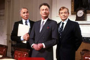 Image shows from L to R: Sir Humphrey Appleby (Nigel Hawthorne), James ...