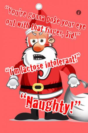 Naughty Santa Claus Quotes Rub and shake santa claus