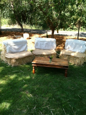 Haybale Seats for around the dance floor when pple get tired!