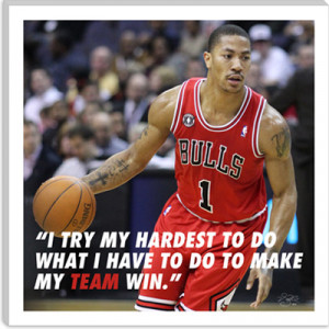 Derrick Rose Quote Canvas Art Print