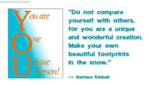 Unique Quotes About Yourself Don't compare yourself with