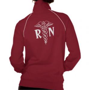 Registered nurse jacket | RN with caduceus symbol