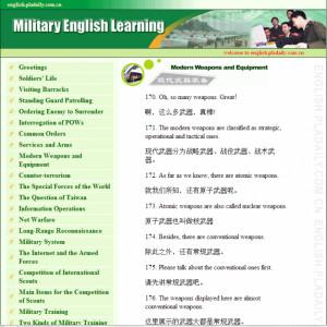 ... common phrases and topics translated into English. english.pla.com.cn