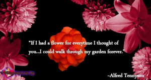 """... thought of you…I could walk through my garden forever."""" ~Alfred"""