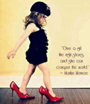 conquer the world, cute, funny, girl, heels, marilyn monroe, quote ...