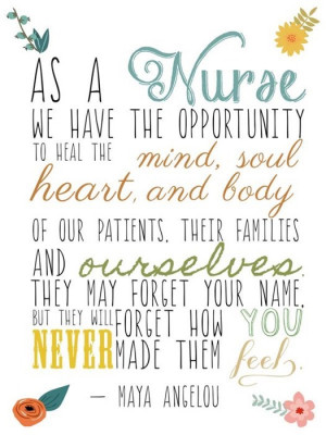 nursing week poster design, this time featuring a quote from Maya ...