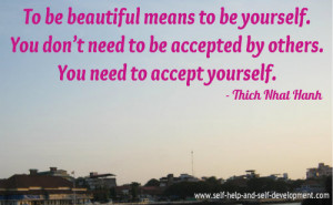 Self Esteem Quote: To be beautiful means...