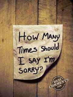 How Many Times Should I Say I'm Sorry Note Graphic
