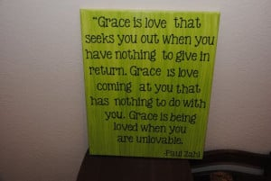 Grace is... custom canvas quotes or by NicolettesCreations on Etsy, $ ...