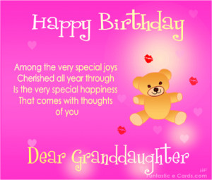 happy birthday granddaughter verses granddaughter quotes granddaughter ...