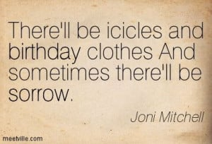 Little Green. Written for Joni Mitchell's daughter, who she had ...
