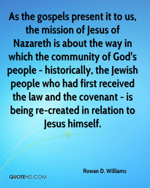 way in which the community of God's people - historically, the Jewish ...