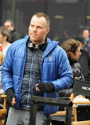 Director Marc Webber seen on the set of 39 The Amazing Spider Man 2 39 ...