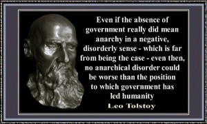 Even if the absence of government really did mean anarchy
