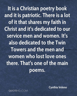 It is a Christian poetry book and it is patriotic. There is a lot of ...
