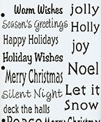 Small Winter Greeting Stencil Paint Supplies and Tools