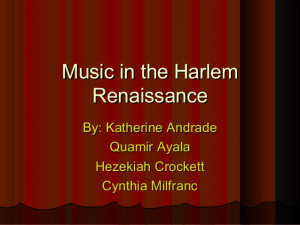Harlem Renaissance Music And Dance