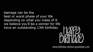 happy 13th birthday messages for friends -