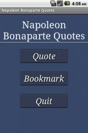 View bigger - Napoleon Bonaparte Quotes for Android screenshot