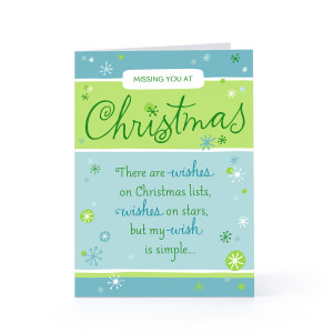 Missing You at Christmas 5x7 Folded Greeting Card Premium Paper $3.79 ...