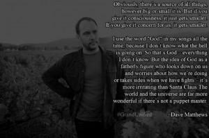 Dave Matthews - hmm interesting