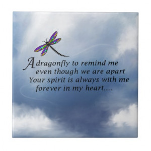 Dragonfly Memorial Poem Ceramic Tile