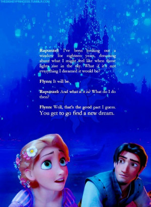 ... 10am tagged tangled flynn rapunzel quote disney disney quote 26 notes