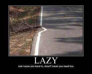 lazy sarcastic motivational poster