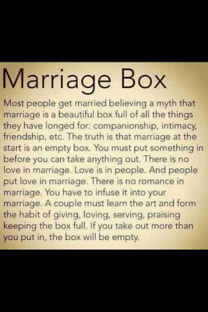 Marriage Box Inspirational Sayings