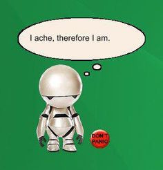 marvin the paranoid android more sadness marvin i m book worth huge ...
