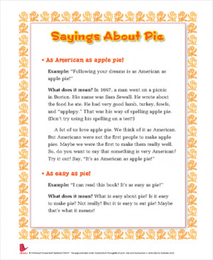 Pie Sayings