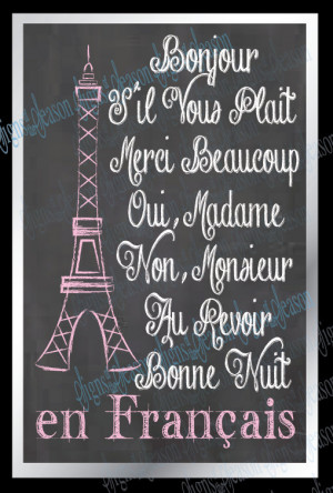 French Sayings - Eiffel tower - Paris - French Decor