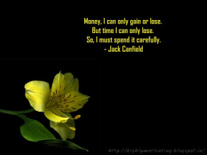 Jack Canfield Time Management Quote Wallpaper